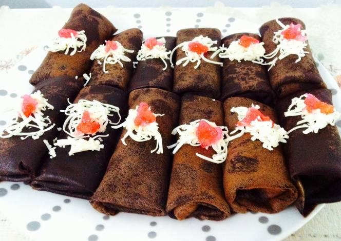 resep dadar gulung cokelat pisang oleh achie   cookpad