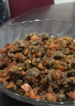 Daging cincang wortel (utk isian pastel/kroket)