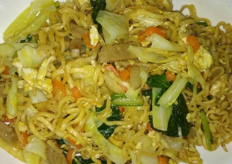 Resep Mie Goreng sayur enak sehat bikinan sendiri