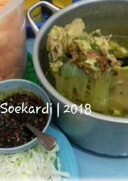 Sop soto ayam jaman now..😋😘