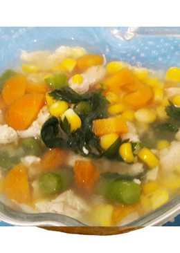 Sup sehat ala A&W ayam jagung wortel buncis