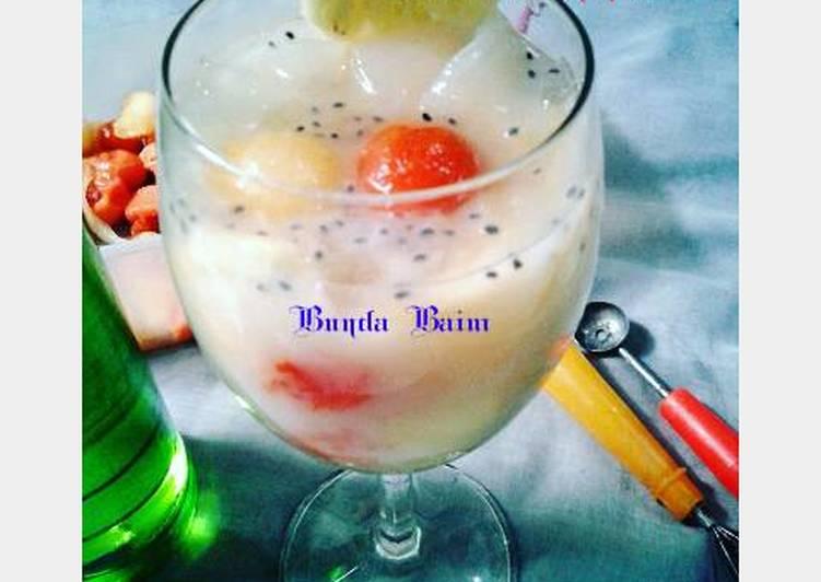 Resep Es buah nata decoco By Bunda Baim