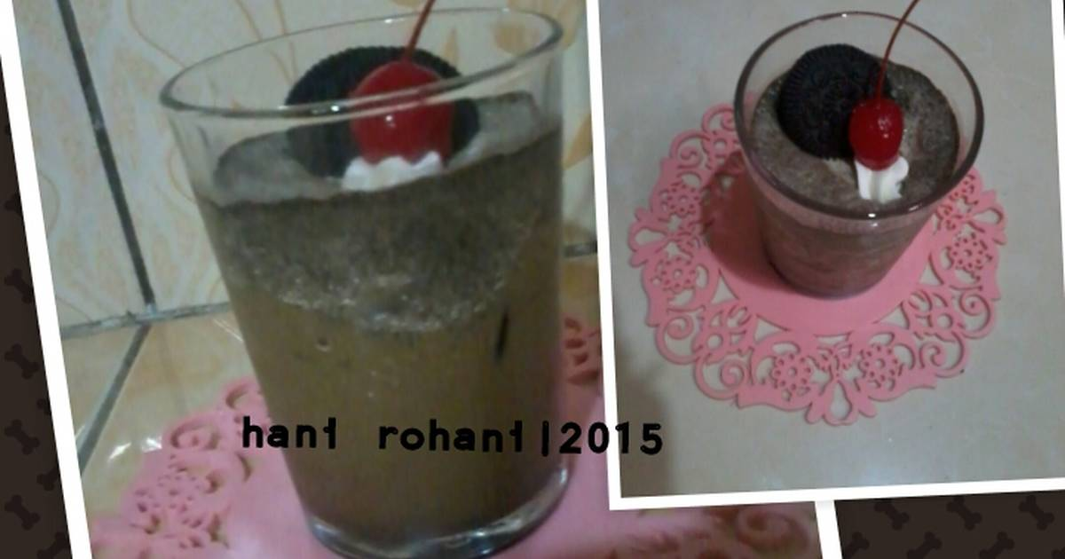 Resep Coffee oreo shake