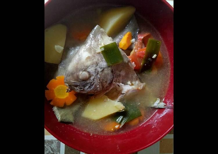 Resep Sup ikan bawal(laut) Karya Clara