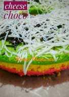 Bolu kukus rainbow cake