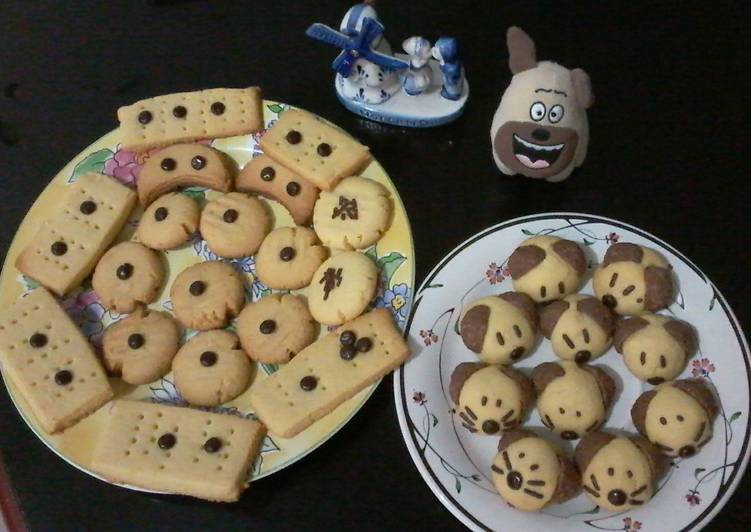 ☕ Butter Cookies Imut 😉🐶🐹🐱