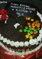 3. Triple Chocolate Caramel Cake Kukus