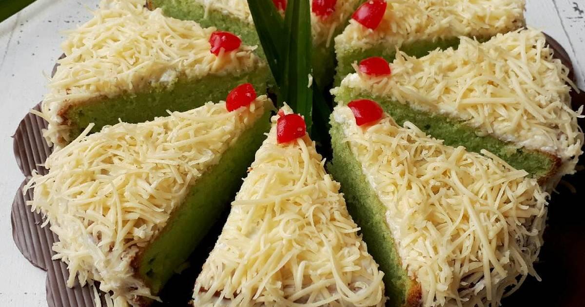 Resep Cake Keju Jepang: Resep Cake Pandan Keju Oleh Sukmawati_rs