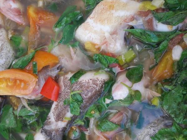 Sop ikan kerapu segar praktis