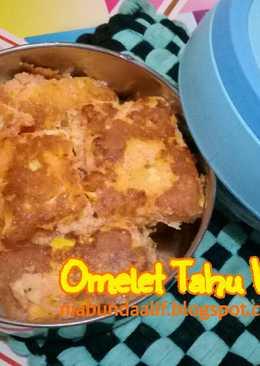 Omelet Tahu Wortel (toddler meal)