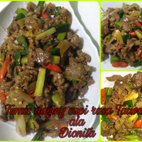 炒牛肉絲 Tumis Daging Sapi