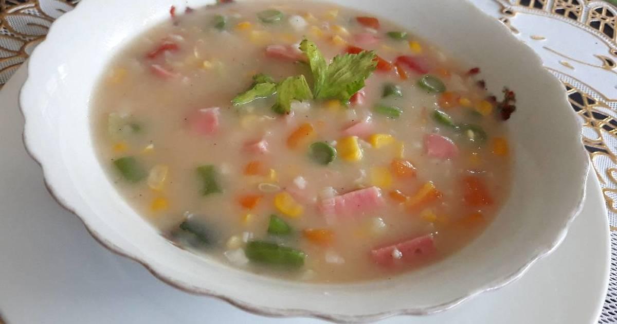resep  krim jagung enak  sederhana cookpad Resepi Sup Ayam Tradisional Enak dan Mudah
