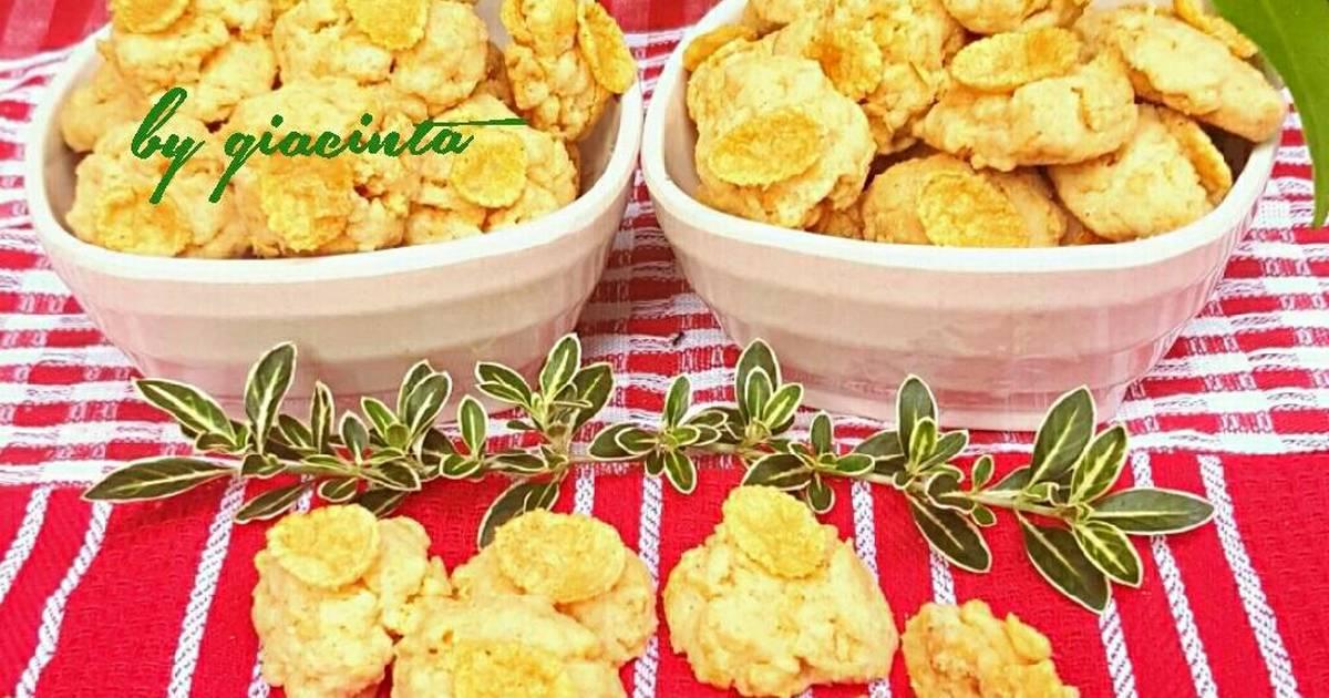 Resep Corn flake cookies