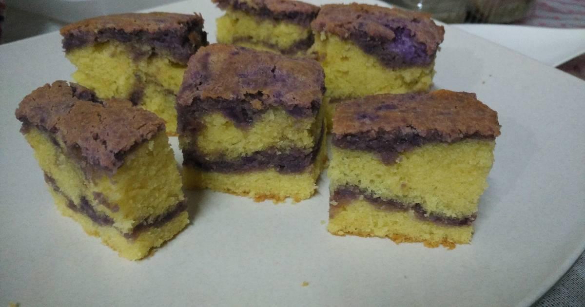 Resep Marmer cake ubi ungu