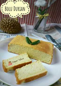 Bolu Durian Nan Lembut Tanpa Pengembang