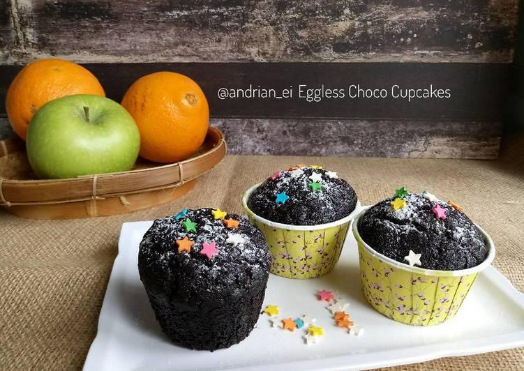 Eggless Choco Cupcake (No Mixer)