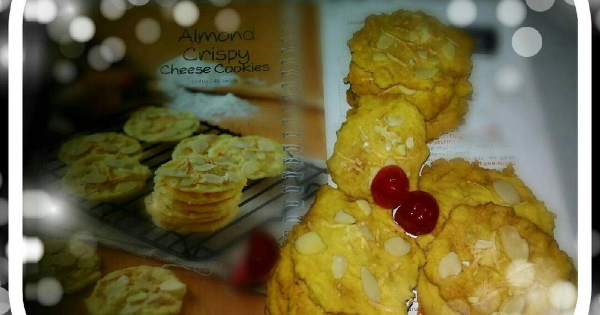 Resep Almomd crispy cheese cookies