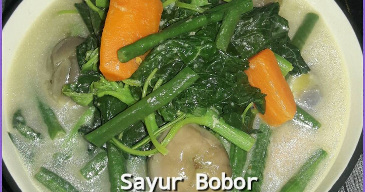 Resep Masak Sayur Bobor Bayam