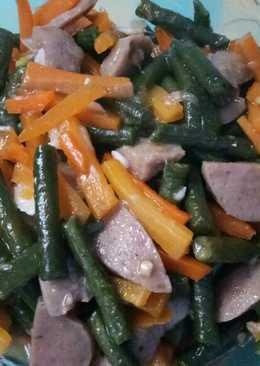 Oseng kaworso (kacang panjang,wortel,bakso)😁