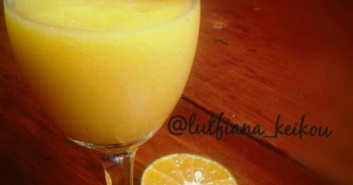 Resep Yellow smoothies