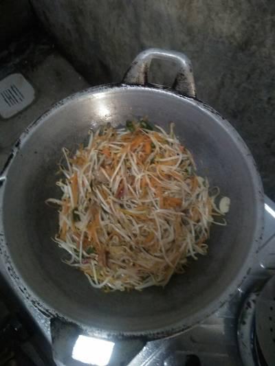 Tumis tauge,wortel,cabe hijau#bikinramadhanberkesan