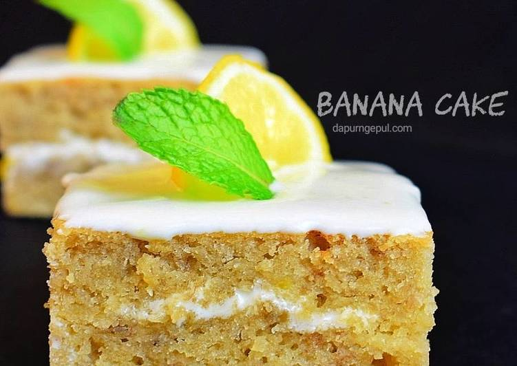 Resep Banana Cake Khas Jepang: Resep Banana Cake With Lemon Cheese Frosting Oleh Amalia