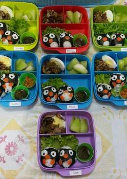 "Bekal Anak Bento ""Nasi Bebek Pinguin""😄😍😘👍"