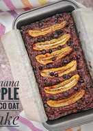 Banana Apple Choco Oat Cake