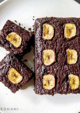 Fudgy Banana Brownies