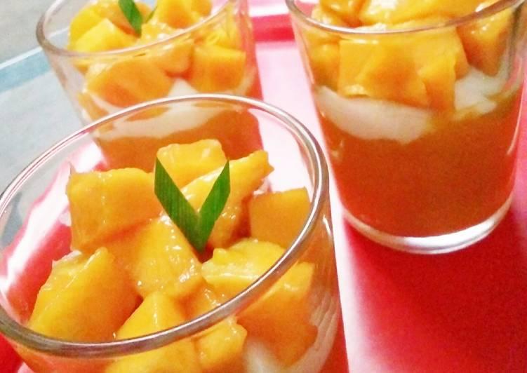 gambar untuk cara membuat Indonesian King Mango (no whipped cream)