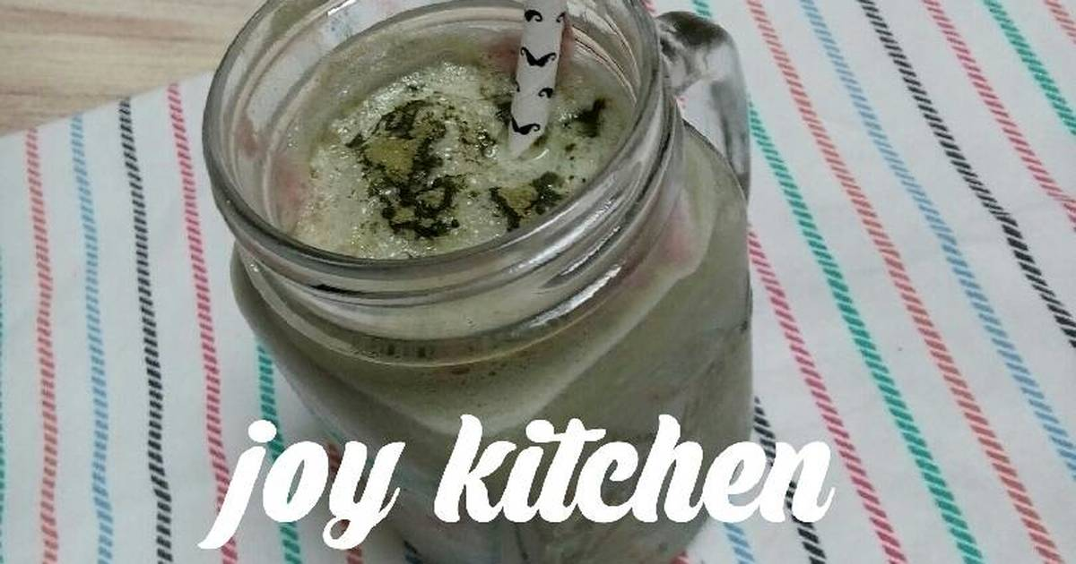 Resep green tea milkshake