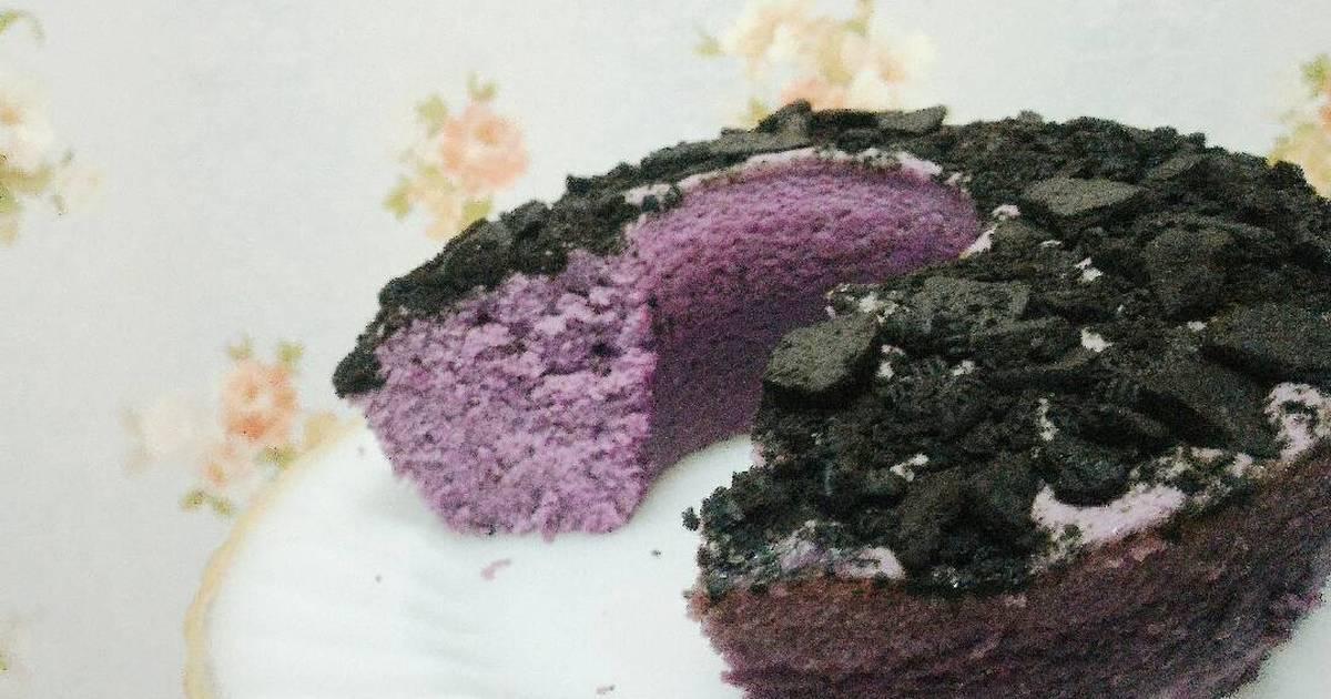 Resep Taro and Cookies Cake (Bolu talas oreo)