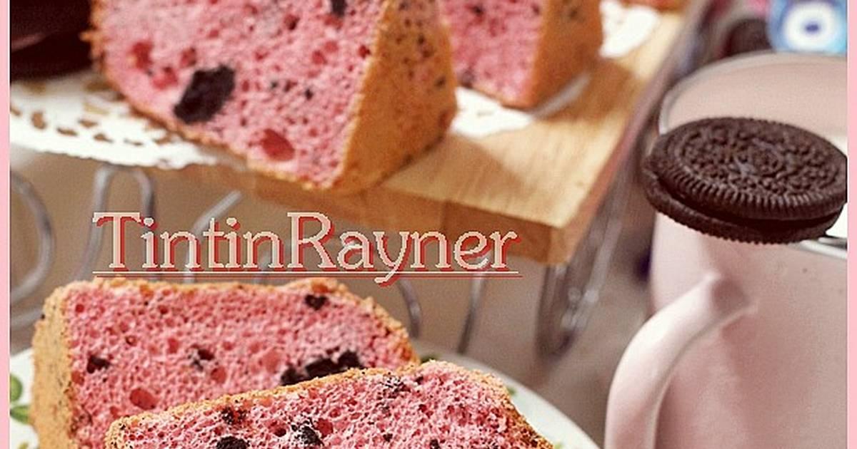 Resep Strawberry Oreo Milk Chiffon Cake .Krucils pasti suka