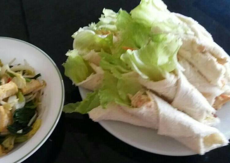 Resep Sandwich Roti Tawar Isi Ayam Lotus Dari Mama Ena Al Islams