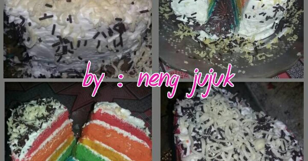 Resep Love Rainbow Cake Kukus