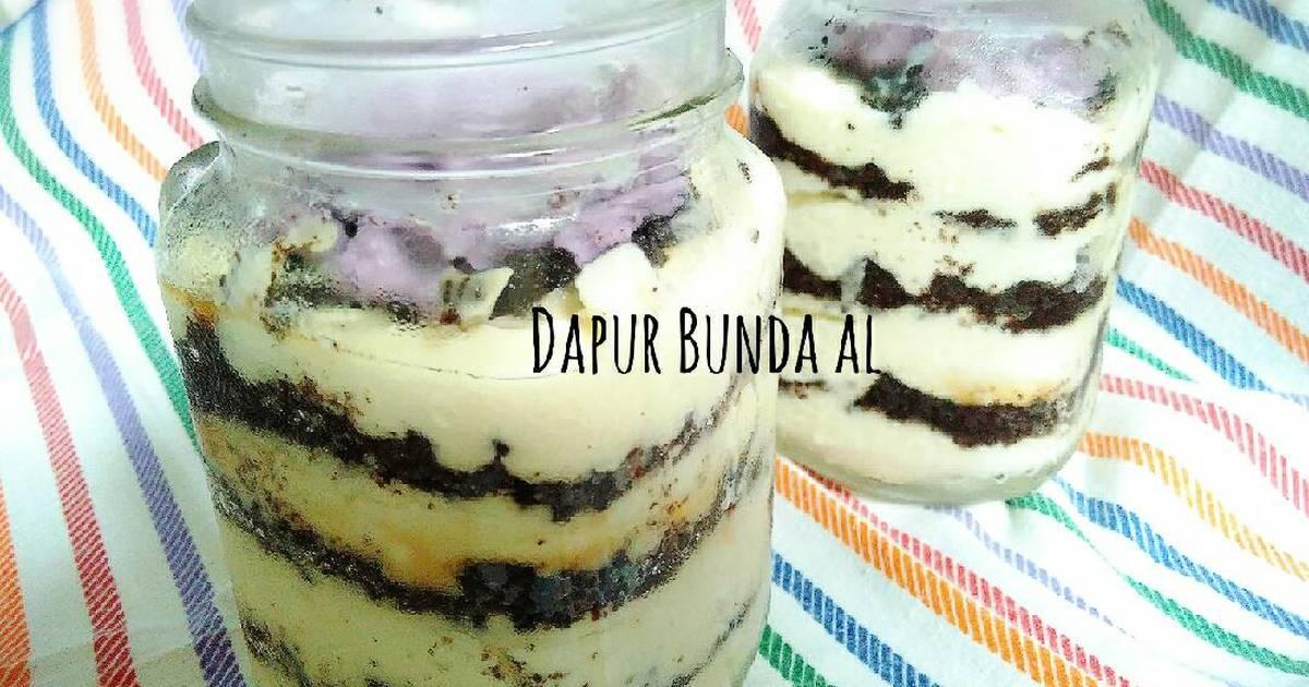Resep Cake In Jar Rainbow: Resep Cheese Cake In Jar #1st Trial N Berhasil Oleh Dapur
