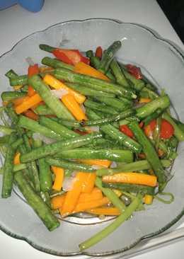 Tumis kacang, wortel, kangkung