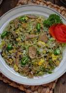 Nasi goreng hijau cakalang pedas