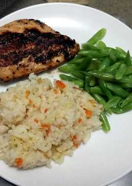 Grilled Chicken Breast and Rice Pilaf