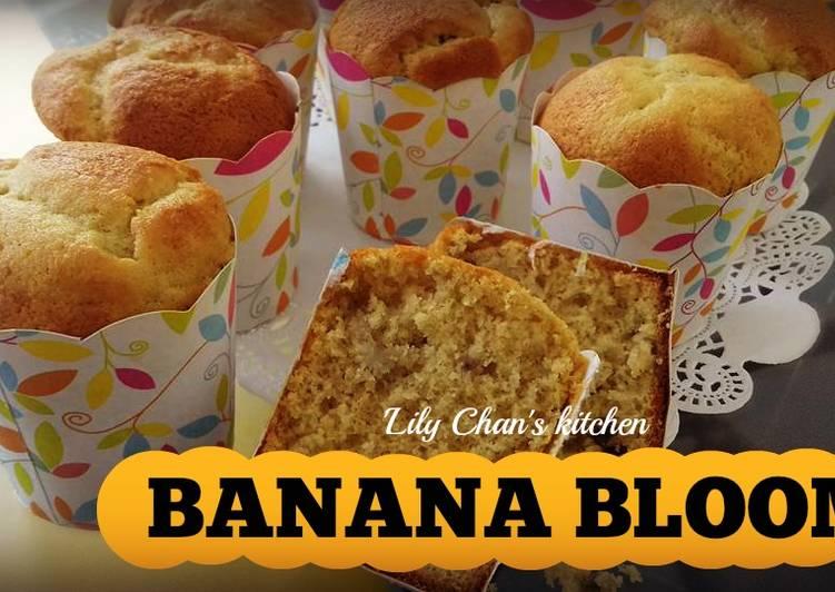 Resep Banana Cake Ala Jepang: Resep BANANA BLOOM Ala LC Oleh 'Lily Chan's Kitchen