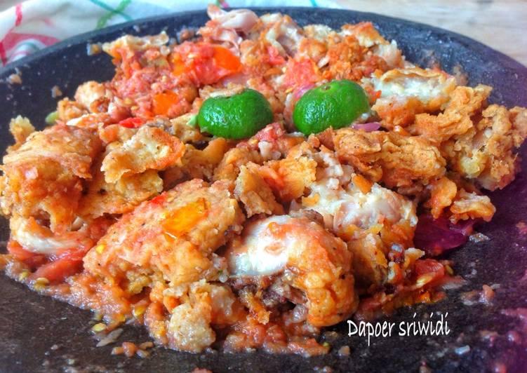 Resep Ayam geprek - Dapoer sriwidi