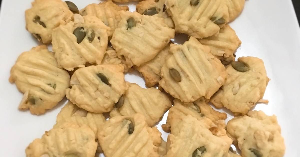 Resep Cookies cashew n pumkin seeds