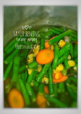 Sayur bening kacang panjang #bikinramadhanberkesan(16)