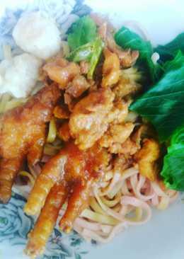 Mie Ayam non msg(3 mangkok)