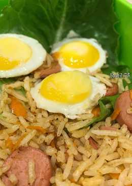 Rendang Fried Rice with Carrot Bekal Anak