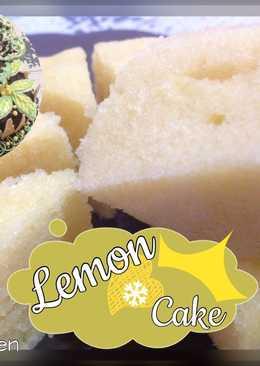 Lemon cake tanpa mixer dan oven
