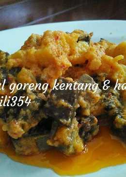 Sambal goreng kentang & hati sapi (recook)