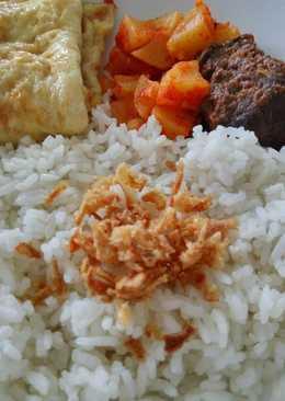 Nasi uduk simple pake ricecooker 😋