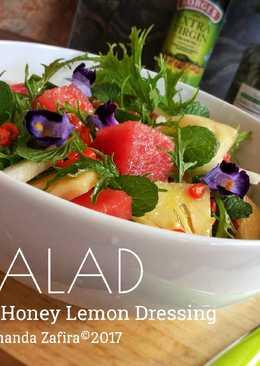 Salad with Spicy Honey Lemon Dressing