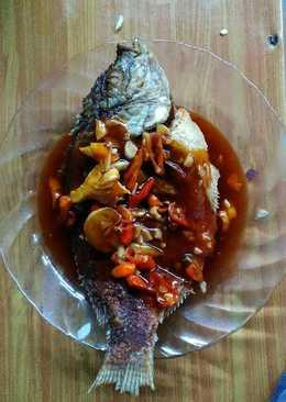Ikan Nila asam manis pedas